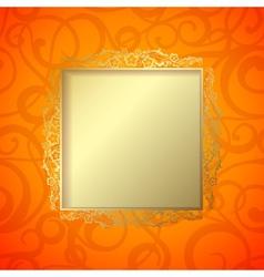border curves frame vector image