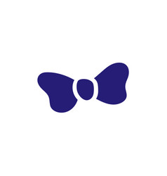 bow tie icon design template isolated vector image