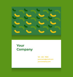 Business card template with doodle pattern vector