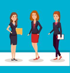business women isometric avatars vector image