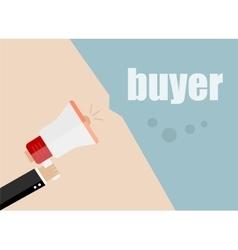 Buyer flat design business vector