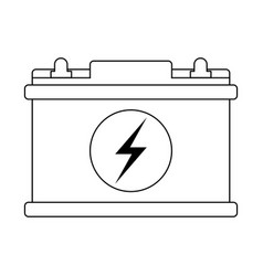 Car battery symbol in black and white vector