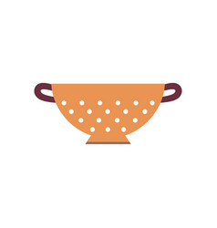 Cartoon colander isolated on white vector