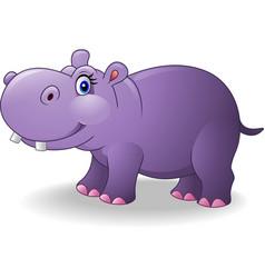 Cartoon smiling hippo vector