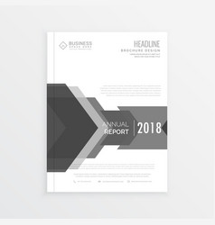 clean business brochure design template in gray vector image