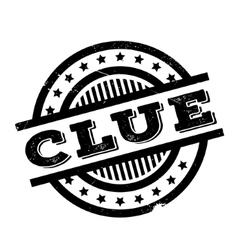 Clue rubber stamp vector