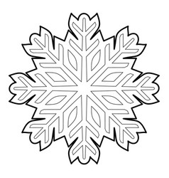 Cold icon outline style vector