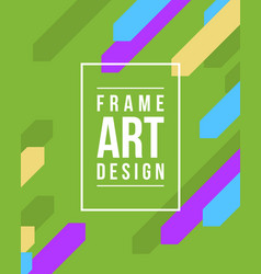Collection style frame art graphics vector