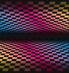 Colored grids background pattern rainbow colored vector