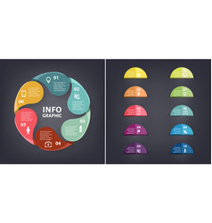 colorful loop infographic template vector image