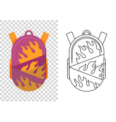 colorful school backpack education and study vector image
