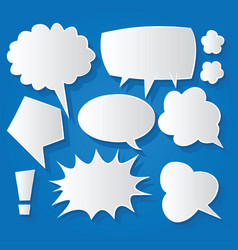 Comic bubble speech balloons speech cartoon 197 vector