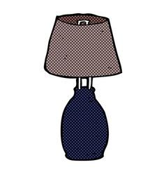 Comic cartoon lamp vector