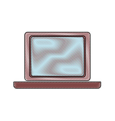 Computer laptop device object display blank vector