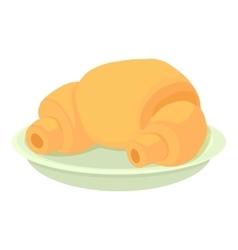Croissant icon cartoon style vector