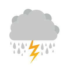 cumulus cloud with rain and thunder vector image