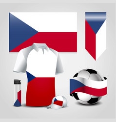 czech republic country flag place on t-shirt vector image