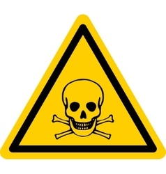 danger sign with skull and bones vector image