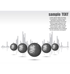 disco ball background for party vector image vector image