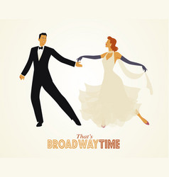 Elegant couple dancing retro style-01 vector