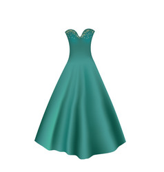 Elegant turquoise dress vector