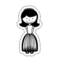First communion girl character vector