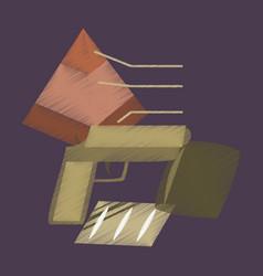 Flat shading style icon economic pyramid vector