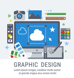 Graphic design for web vector