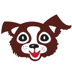 Head of little dog vector image