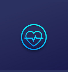 heart logo for apps vector image