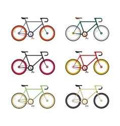 Hipster single speed bikes set City bicycles with vector image