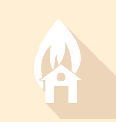 icon house icon with a long shadow vector image vector image