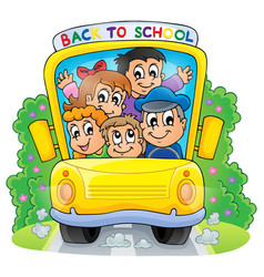 image with school bus theme 2 vector image