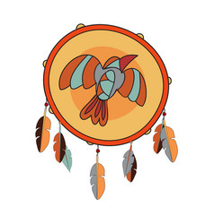 indian tambourine icon vector image