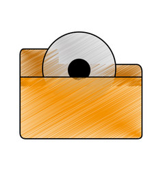 isolated file design vector image