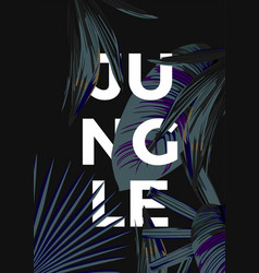 jungle poster dark vector image