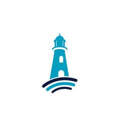 Lighthouse communication technology logo vector