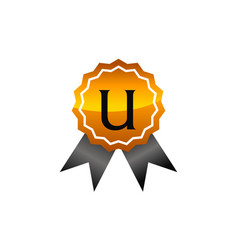 Logo quality letter u vector