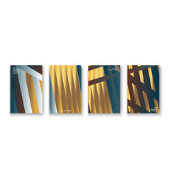 luxurious and rich cover set golden foil and gold vector image