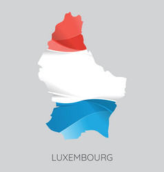 map of luxembourg vector image