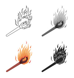 match icon in cartoon style isolated on white vector image