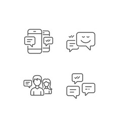 Message chat speech bubble and communication vector