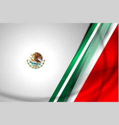 Mexico flag background vector