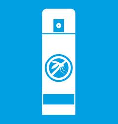 Mosquito spray icon white vector