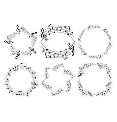 music frames - beautiful set vector image