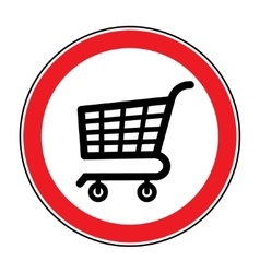 No cart sign 4 vector