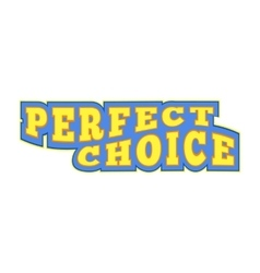 Perfect choice comics icon vector image