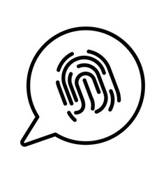 phone security fingerprint scan isolated line vector image