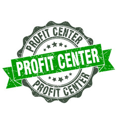 profit center stamp sign seal vector image