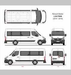 Renault master passenger van l3h2 rwd 2014-2019 vector